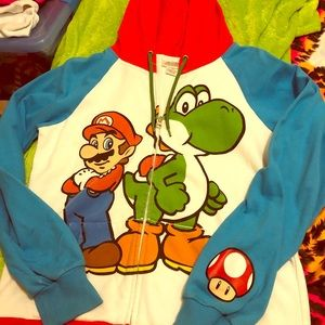 Super Mario and yoshi hoodie woman's size L